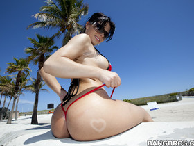 Pretty nice ass, Rebeca Linares to show off her phat ass and sweet tits for you all.
