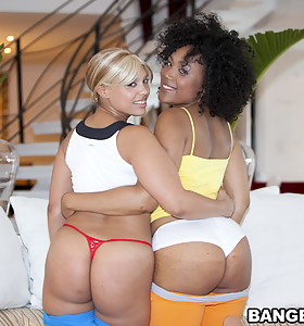 Daiquiri Divine and Paris. These two ladies are super fine with monster big asses.