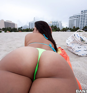 Sexy hottest ass booty pics, this Cuban chick and I think this might be the biggest roundest sexiest ass